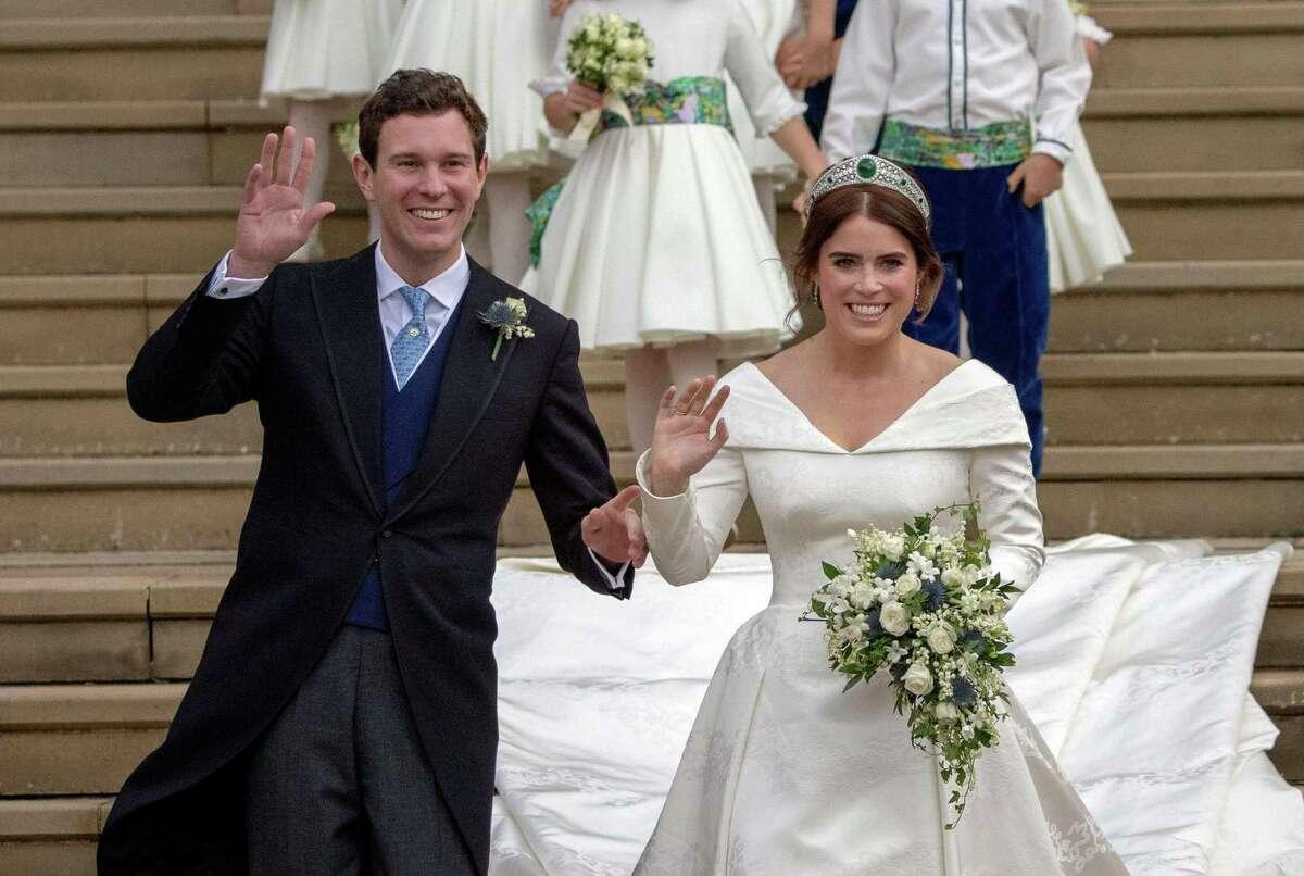 Princess Eugenie of York and Jack Brooksbank: Royal-wedding fanatics enjoyed a second helping of British