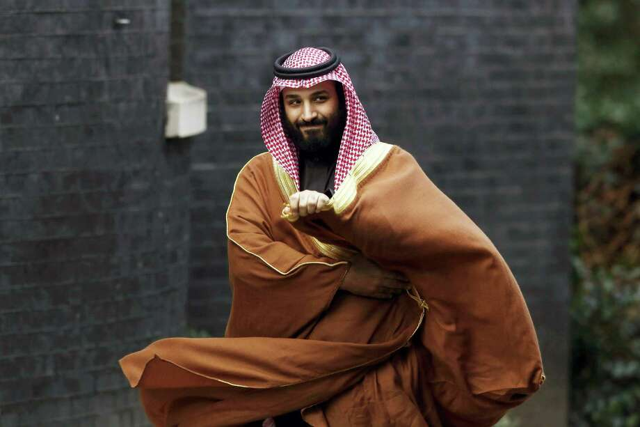 Mohammed bin Salman, Saudi Arabia's crown prince, arrives to meet Theresa May, U.K. prime minister, at number 10 Downing Street in London, U.K., on March 7. Western democracies must not tolerate the monarch's murder of a Washington Post contributing columnist. Photo: Luke MacGregor /Bloomberg / 2018 Bloomberg Finance LP