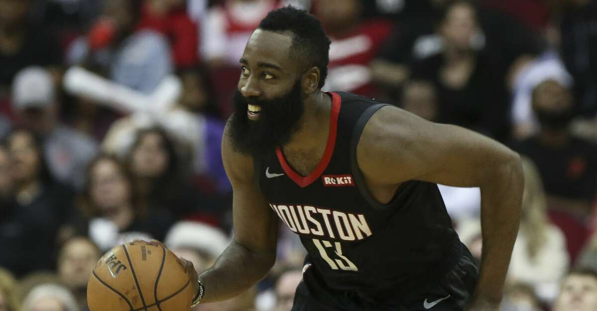 PHOTOS: Former Texas high school stars in the NBA Houston Rockets guard James Harden (13) dribbles during the fourth quarter of the NBA game against the San Antonio Spurs at Toyota Center on Saturday, Dec. 22, 2018, in Houston. The Houston Rockets defeated the San Antonio Spurs 108-101. >>>See photos of former Texas high school stars playing in the NBA ...