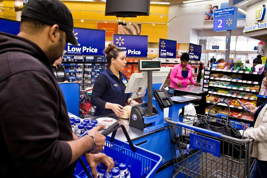 A Walmart Supercenter in North Bergen, N.J. Walmart has so far saved at least $1.6 billion for the first three quarters of 2018, compared with what it would have paid under its previous effective rate. Photo: Bryan Anselm / New York Times 2015