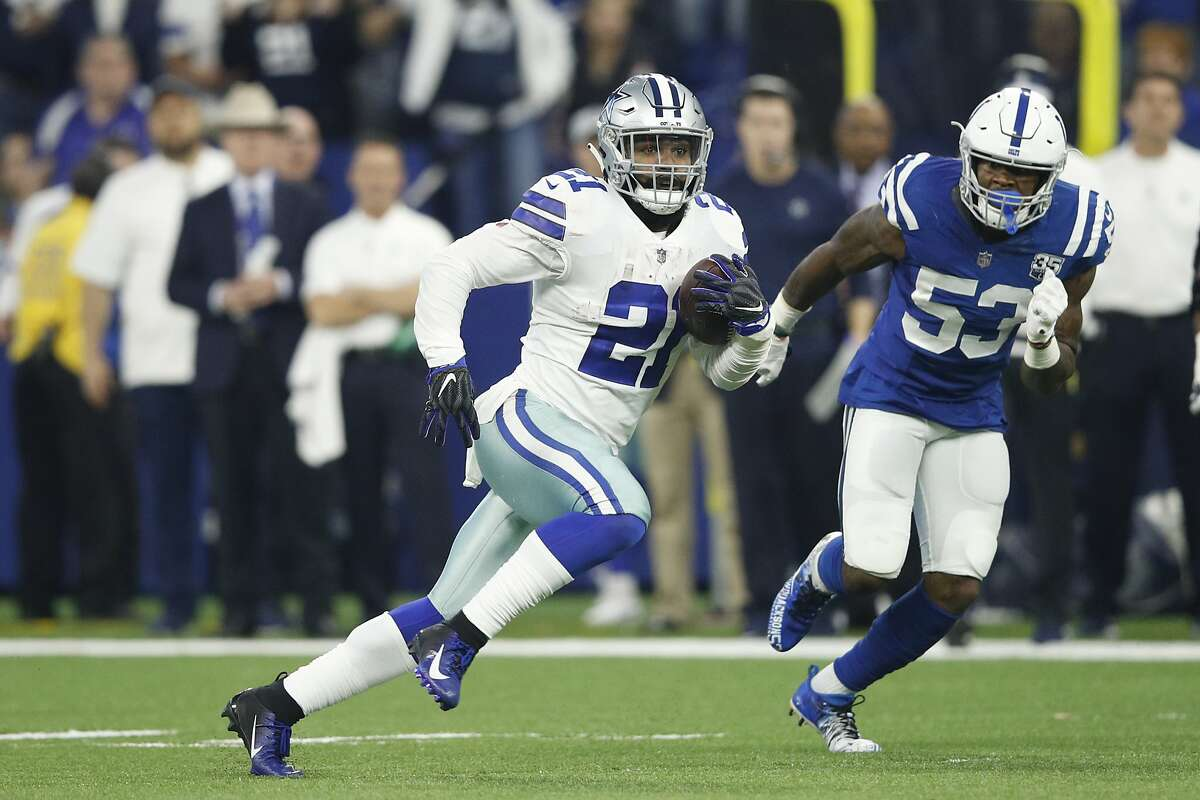 3. DALLAS' OFFENSE RUNS THROUGH EZEKIEL ELLIOT The Cowboys' offense begins and ends with star running back Ezekiel Elliot. The 23 year old led the NFL in rushing attempts and rushing yards in 2018. Elliot had 304 carries for 1,434 yards (4.7 yards per carry) and six touchdowns this season. He was also Dallas' third-leading receiver with 77 catches for 567 yards ( 7.4 yards/catch) and three scores. Basically, the former Ohio State Buckeye is Mr. Do It All for Dallas. Like the Seahawks, it's no secret that the Cowboys will look to establish the run on Saturday. Ellliot rushed 16 times for 127 yards in the Week 3 meeting between the teams, which was one of his more productive (his third highest rushing yards total in a game this season) and efficient (tied for most yards per carry at 7.9) performances of 2018.