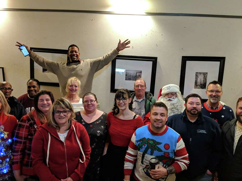 Saratoga County Veterans Peer Connection held its Christmas party at Saratoga Coffee Traders. (Amy Hughes)