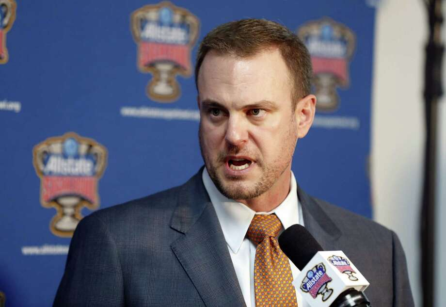 Texas coach Tom Herman knows what it's like to be on the Sugar Bowl stage, having beaten Alabama in the 2015 game as an Ohio State assistant coach. Photo: Gerald Herbert / Associated Press / Copyright 2018 The Associated Press. All rights reserved.