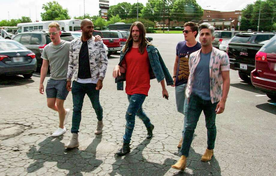 """This image released by Netflix shows the cast of """"Queer Eye."""" The program was named one of the top ten TV shows of 2018 by the Associated Press. (Netflix via AP) / Netflix"""