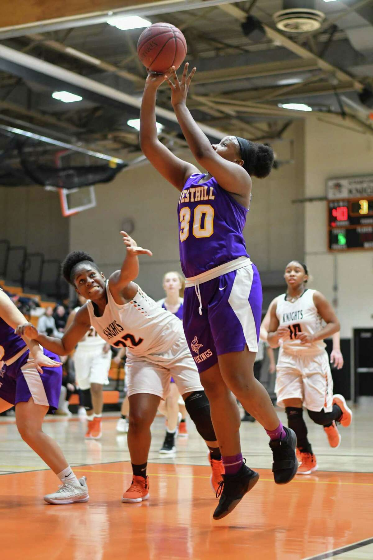 Girls high school basketball action from the Kuczo Holiday Classic played on Thursday December 27, 2018 at Stamford High School in Stamford, Connecticut.