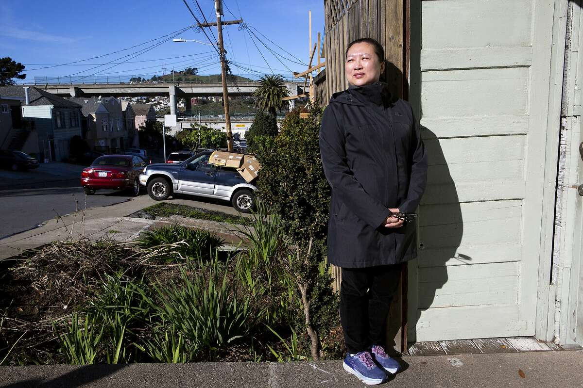 A portrait of Ruobing Zheng outside her home on Thursday, Dec. 27, 2018, in San Francisco, Calif.