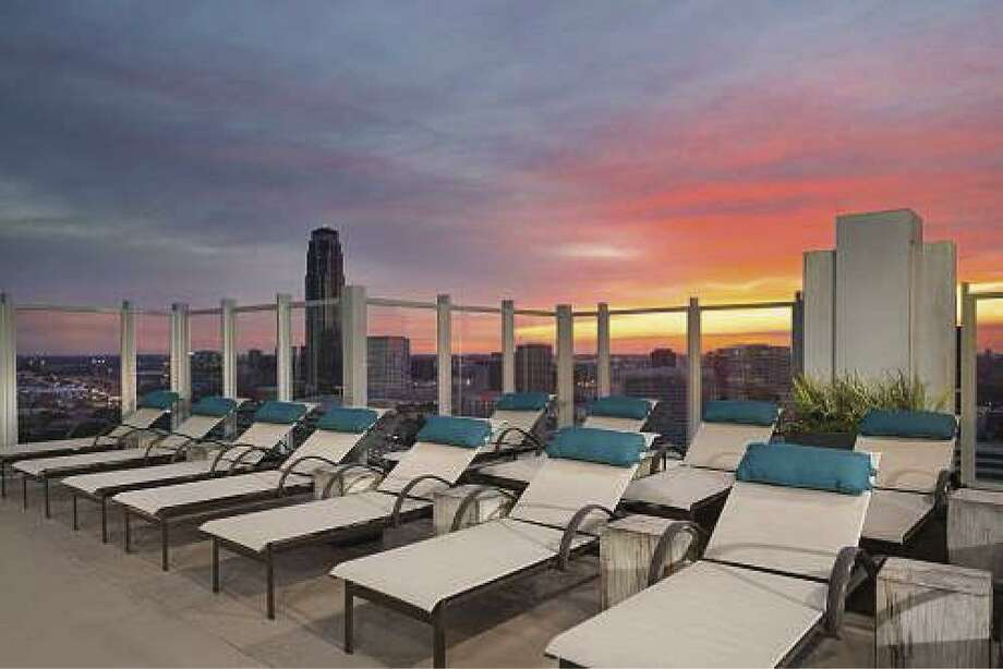 The rooftop offers spectacular views of the Uptown area.
