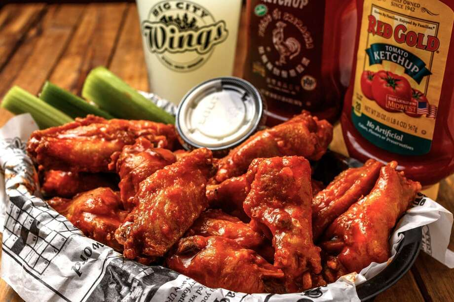 Some of the flavors available for the wings at Big City Wings include Honey Citrus, Gold Fever and Spicy Ranch. Photo: Courtesy Of Big City Wings