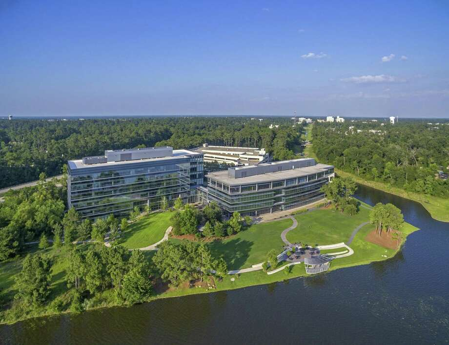 Arena Energy will occupy 87,231 square feet in Lake Front North in Hughes Landing. Lake Front North is a campus recently formed by Howard Hughes Corp.'s acquisition of two former CB&I buildings. Photo: Howard Hughes Corp.