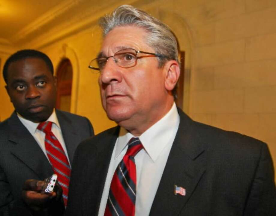 James Tedisco, Assembly minority leader, comments on Sen. Joseph L. Bruno's announcement Monday, June 23. Photo: John Carl D'Annibale