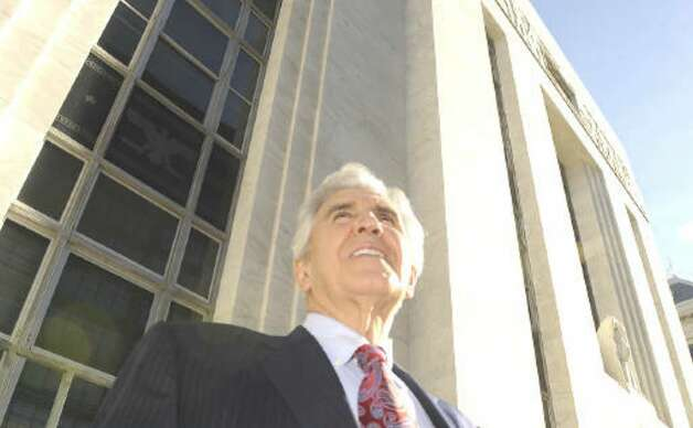 Joseph L. Bruno leaves the Federal Courthouse in Albany on Oct. 26, 2009. (Skip Dickstein / Times Union)