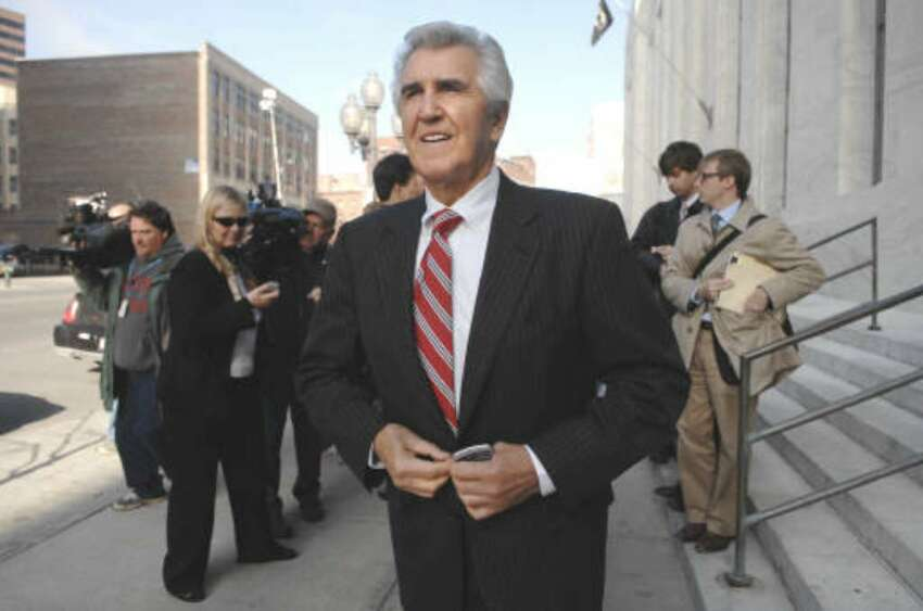 Ex-state Sen. Joseph Bruno at the Federal Courthouse in Albany during his 2009 trial. (Paul Buckowski/Times Union) (