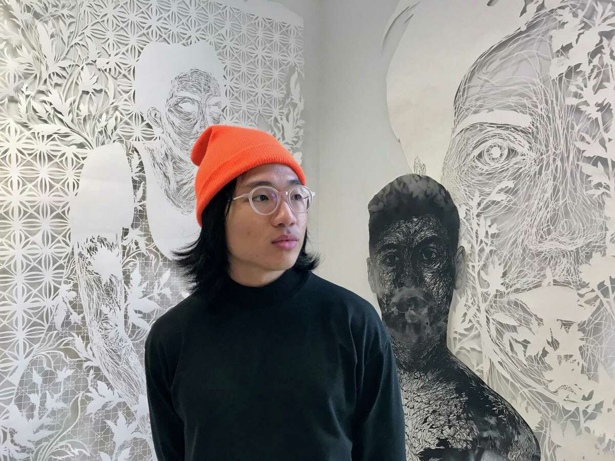 Antonius Bui in his studio at Houston Center for Contemporary Craft on Nov. 10, 2018.
