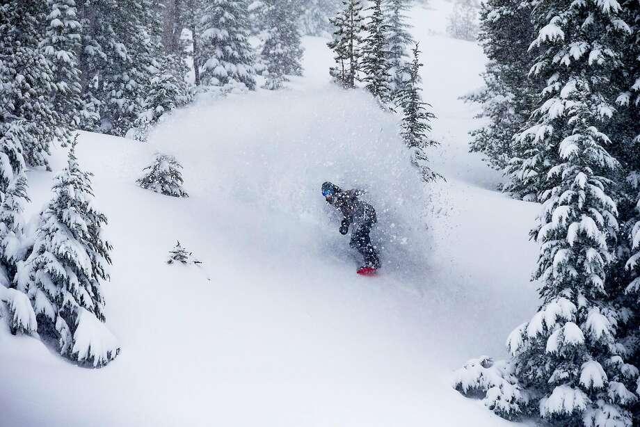 Snow falls at Mammoth Mountain Ski Resort in Mammoth Lakes. Photo: Andrew Miller / Mammoth Mountain Ski Resort
