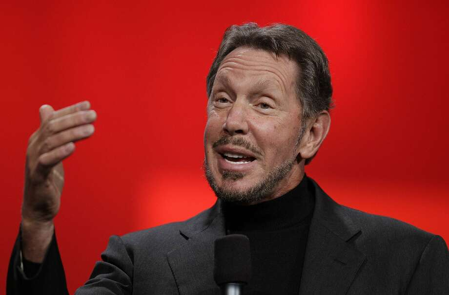 FILE - In this Oct. 2, 2012 file photo, Oracle CEO Larry Ellison gestures while giving a keynote address at Oracle OpenWorld in San Francisco. Photo: Eric Risberg, Associated Press
