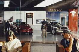 The Tesla store in Westfield Century City in Los Angeles, Calif., Oct. 18, 2018. Demand for the company's electric cars could weaken in January, when a $7,500 federal tax credit is cut in half for buyers of Tesla's luxury models (Rozette Rago/The New York Times)