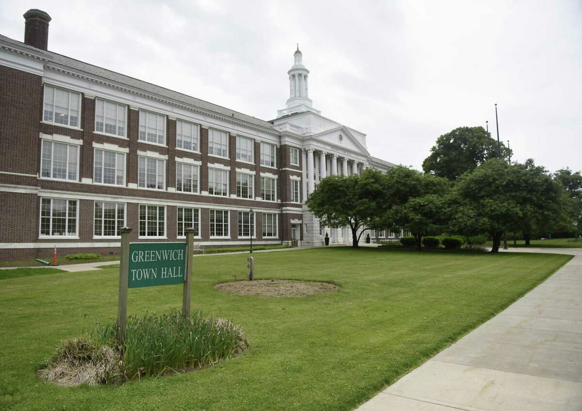 Property tax bills can be paid in person at Greenwich Town Hall.