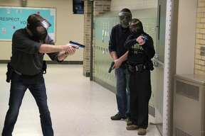 Scenes from the active shooter training, which was held on Thursday and Friday at Elkton-Pigeon-Bay Port High School.