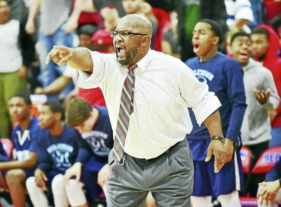 Middletown head coach Rick Privott, who played on the Blue Dragons historic state championship teams in the late 1970s, leads a young squad against a demanding schedule this season. Photo: Hearst Connecticut Media File Photo / New Haven RegisterThe Middletown Press