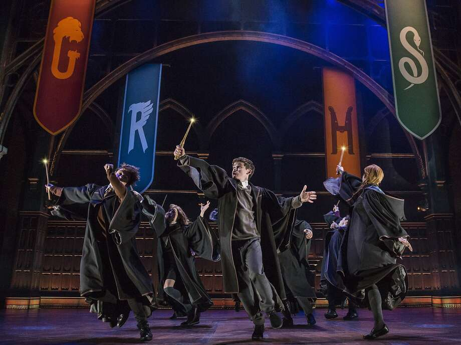 "This image released by Boneau/Bryan-Brown shows a scene from the production of""Harry Potter and the Cursed Child,"" in New York. The two parts of the production are more than a combined five hours. (Matthew Murphy/Boneau/Bryan-Brown via AP) Photo: Matthew Murphy, Associated Press"