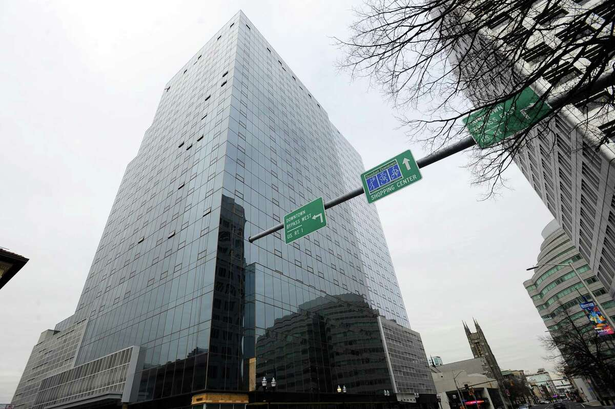 Photos of Atlantic Station, the new 325-apartment building, at the corner of Atlantic Street and Tresser Boulevard in downtown Stamford, Conn. on Tuesday, Feb. 6, 2018.