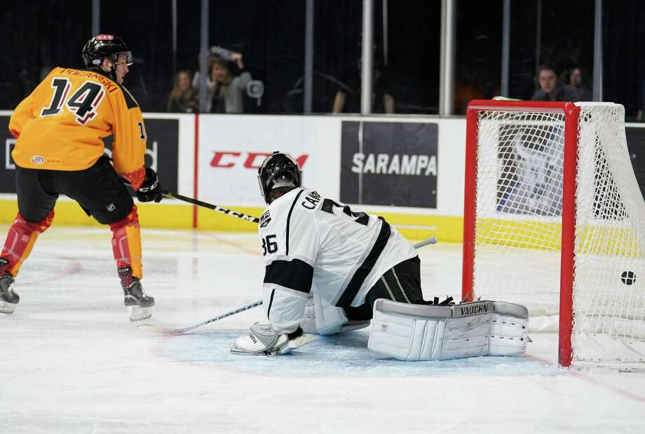 The Ontario Reign play the San Antonio Rampage during the second period of an AHL hockey game, Firday, Dec. 28, 2018, at the AT&T Center in San Antonio, Texas. (Darren Abate/AHL) Photo: Darren Abate, FRE / Darren Abate/AHL / Darren Abate Media, LLC/AHL/San Antonio Rampage