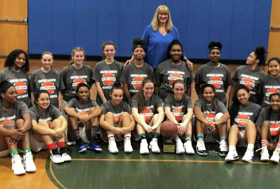The Danbury girls basketball team won the News-Times Tip Off Classic with a 65-37 win over Bristol Eastern Friday. Photo: Ryan Lacey /Hearst Connecticut Media