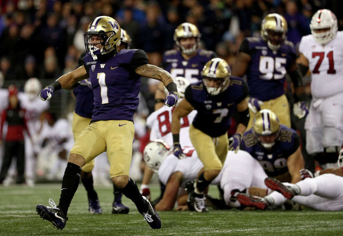Byron Murphy, Cornerback Despite only playing one full season as a Husky, Byron Murphy left little room for doubt about his skill. During his redshirt freshman season, Murphy notched three tackles for loss, one sack, three interceptions, 10 pass-defenses and one forced fumble. He picked up that momentum this season, racking up four picks and 17 pass-defenses, in addition to four TFL. Murphy brings elite coverage technique and disciplined play to the table, as well as above-average ball skills. His only real downside is his size: at 5'11