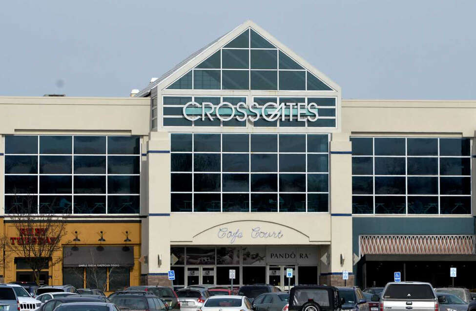 An apparent burst pipe at Crossgates Mall in Guilderland on Monday night, Jan. 21, 2019, caused ceiling tiles to collapse and water to flood the floor below, according to news reports and video posted on social media.