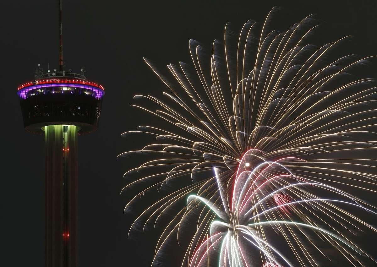 San Antonians in the downtown area Sunday night were treated to (or caught off guard by) a random fireworks display that had many scratching their heads.