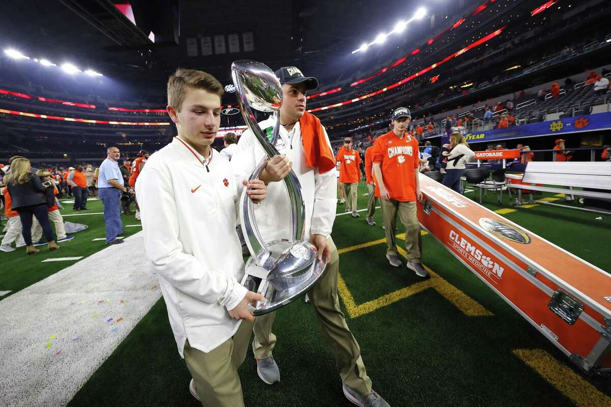 Clemson beat Notre Dame in the Cotton Bowl, a CFP semifinal, on Saturday in Arlington. Despite the nation's best high school postseason, Texas' Division I teams have yet to play in the College Football Playoff.