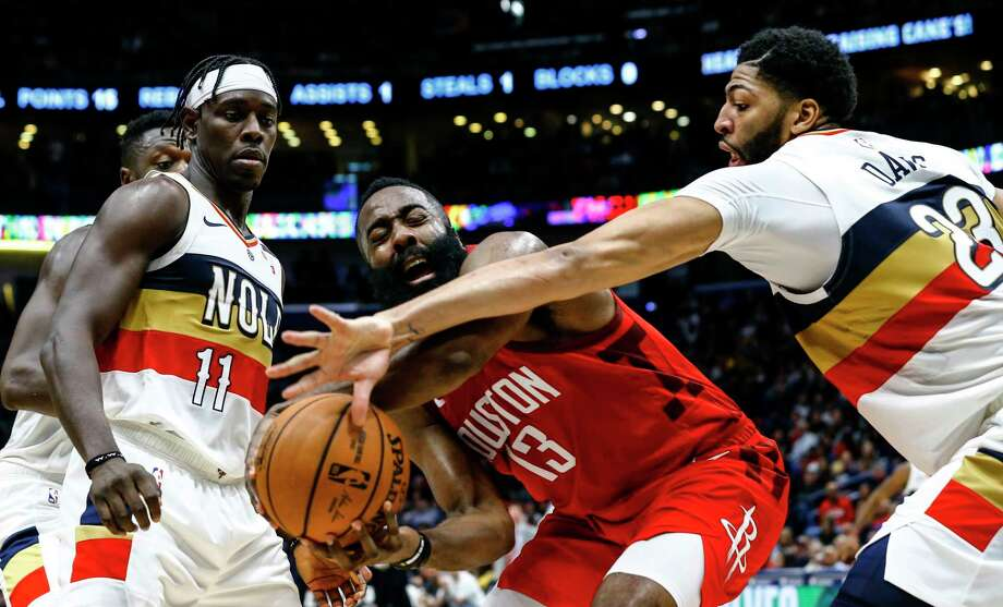 9bea6ccf596e New Orleans Pelicans forward Anthony Davis (23) and guard Jrue Holiday (11)