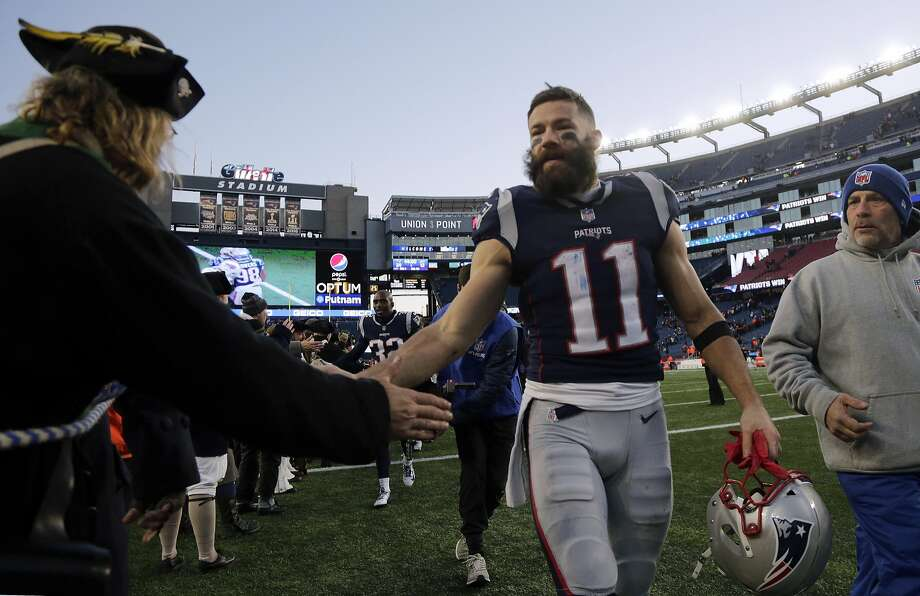 New England Patriots wide receiver Julian Edelman leaves the field after an NFL football game against the Buffalo Bills, Sunday, Dec. 23, 2018, in Foxborough, Mass. (AP Photo/Elise Amendola) Photo: Elise Amendola / Associated Press