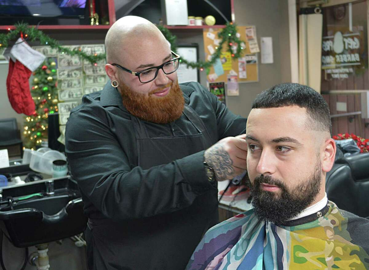Joey Pelkey, 26, owner of Get Fresh Barber Shop at 131 Saybrook Road in Middletown, has been named The Middletown Press' Person of the Year for 2018.