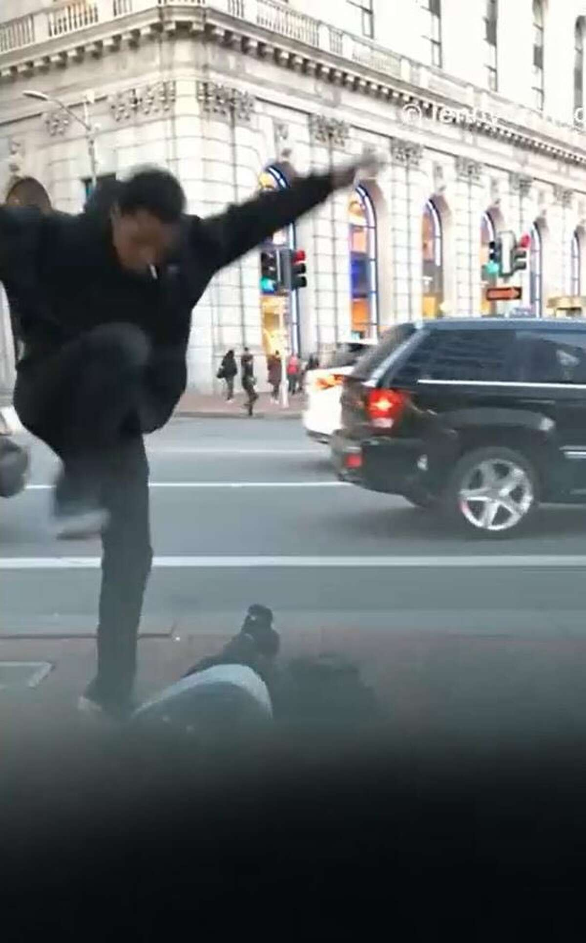 A manhunt is under way for 25-year-old Oakland resident Melton Earl Kelly, who police identified as a suspect in an attack near Union Square in San Francisco on Friday.