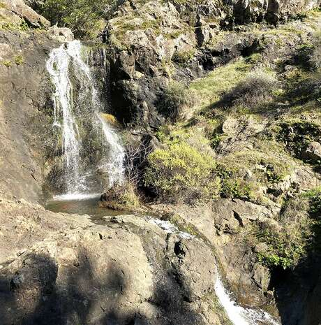 The mid deck of�Carson�Falls, one of five decks top-to-bottom, located in the Marin Watershed