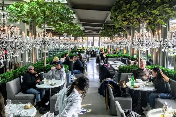 6a3a8ee0b ... RH Rooftop restaurant on the top floor of Restoration Hardware showroom  in New York. Stanford Shopping Center considered tearing down Macy s Men s  store ...