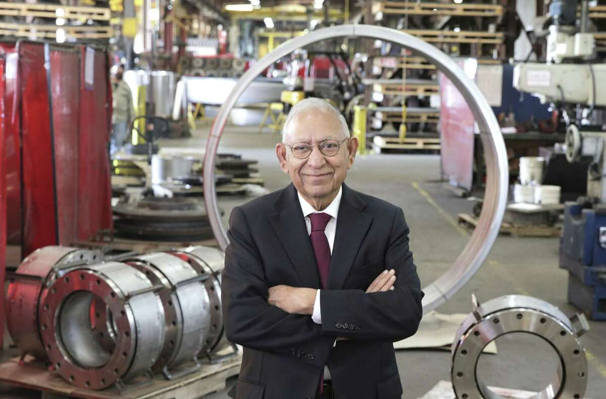 Durga Agrawal, founder and CEO of the Houston company Piping Technology & Products at one of the company's shops on Monday, Dec. 24, 2018 in Houston.