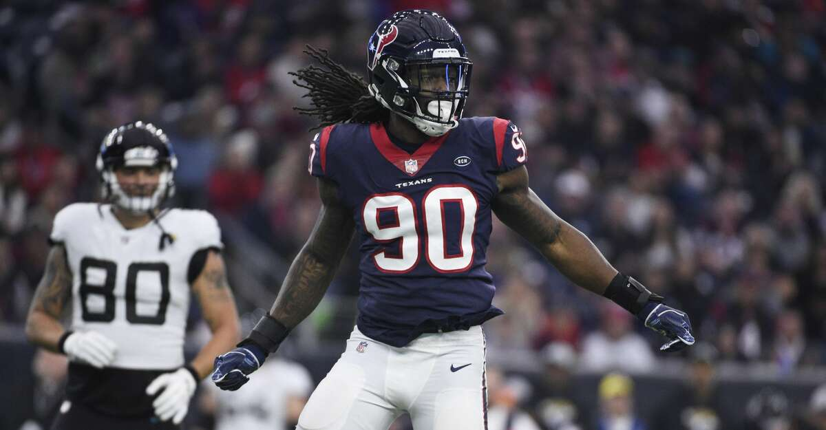 Jadeveon Clowney, defensive end 2018 base salary: $13.3 million Contract: 4 years, $22.3 million ($22.3 million guaranteed) Can become an unrestricted free agent this offseason if the Texans don't franchise tag him.