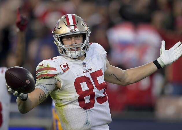 49ers' George Kittle barrels into NFL record book