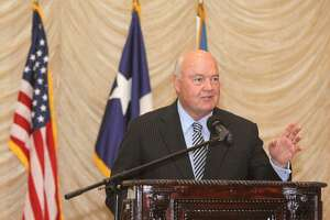 Fort Bend County Judge Robert Hebert gives the State of the County address at Safari Texas Ranch in Richmond on Friday, Feb. 28.