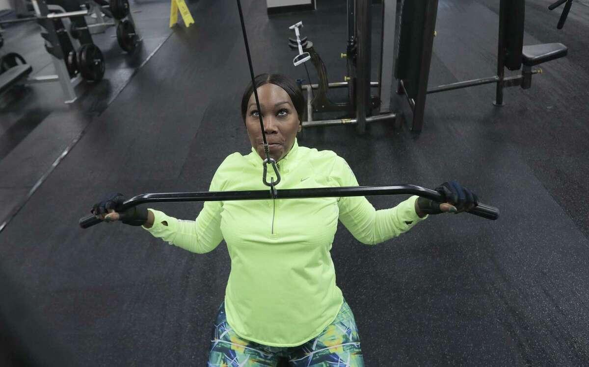 Yolanda Adams works out at ProFit in Rice Village.