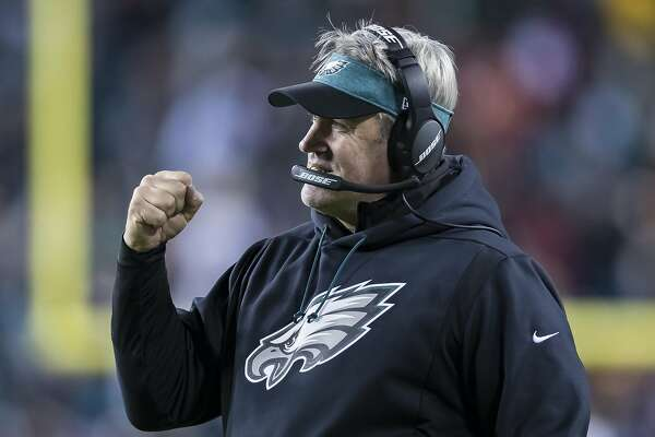 LANDOVER, MD - DECEMBER 30: Head coach Doug Pederson of the Philadelphia Eagles reacts against the Washington Redskins during the second half at FedExField on December 30, 2018 in Landover, Maryland. (Photo by Scott Taetsch/Getty Images)