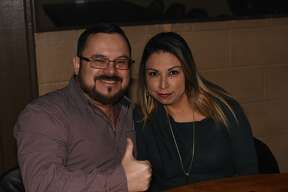 Abel and Erika Perez pose for a photo during La Mafia and Gary Hobbs performance.