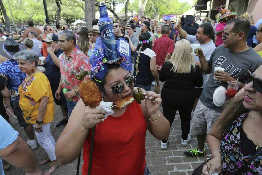 Pick up a chicken on a stick Places like La Tuna and Anchor Bar are frying up chicken to cure your Fiesta cravings.