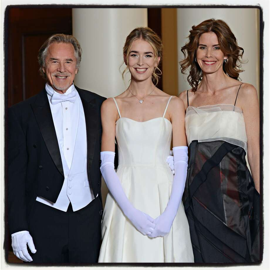 Don Johnson (left) with his debutante daughter Grace Johnson and wife, Kelley Phleger Johnson at the Cotillion Dec. 22, 2018. Photo: Jennifer Paschal