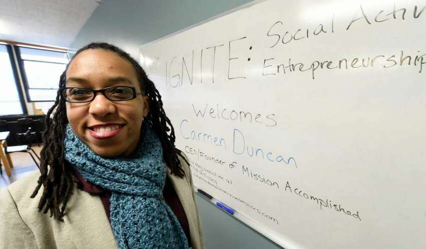 Nurturing young students is something that hits close to home for Carmen Duncan, chief coach and founder of the nonprofit Mission Accomplished Transition Services. (Times Union archive)
