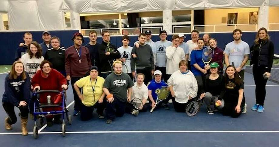 Competitors at the first Chapel Haven Adult tennis round robin touranment in 2018. Photo: Contributed / Chapel Haven /