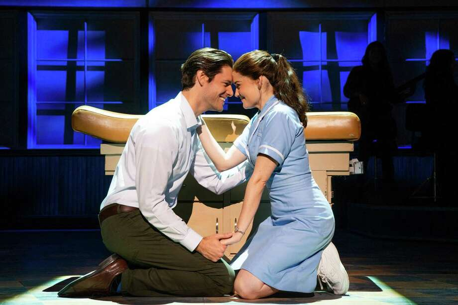 """Waitress"": The first show of the new year in the Broadway in San Antonio series gets things off to a tasty start. The musical adaptation of the 2007 movie tells about a waitress/pie genius (the effervescent Christine Dwyer, right) who, much to her chagrin, joins ""Club Knocked Up."" An ill-advised affair with her gynecologist (the solid Steven Good, left) gives some relief from her situation and adds some romance to the show, though a more satisfying slice of the latter comes from the oddball courtship between a fellow waitress (Jessie Shelton) and a fellow Revolutionary War enthusiast (Jeremy Morse). Maiesha McQueen, as another waitress, briefly steals the whole show when she belts out ""I Didn't Plan It."" Don't miss this show — it's every bit as yummy as the pies that pepper the production look.