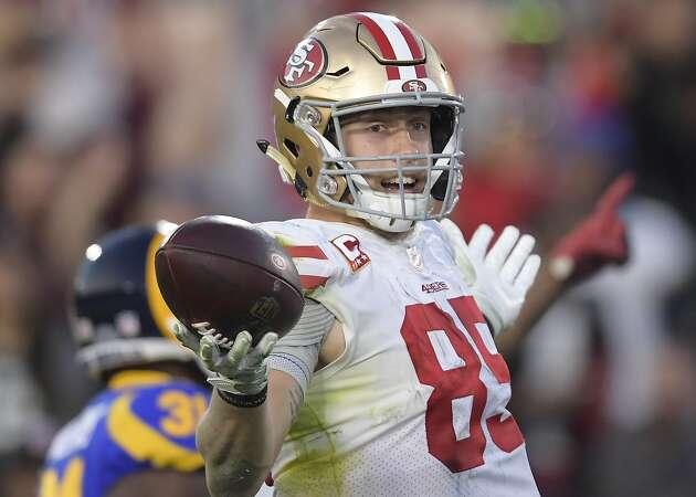 49ers' record-breaker Kittle wins Bill Walsh Award